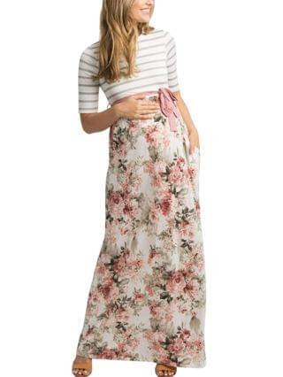 WOMEN Forence Floral Maxi Maternity Dress