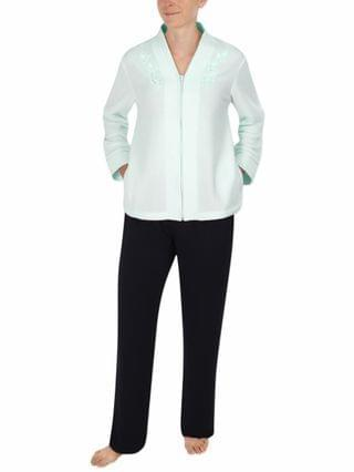 WOMEN Brushed-Back Terry Bed Jacket