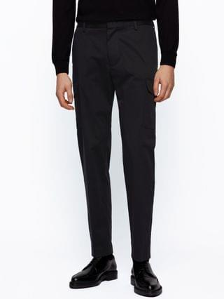 MEN BOSS Men's Banks Slim-Fit Cargo Trousers