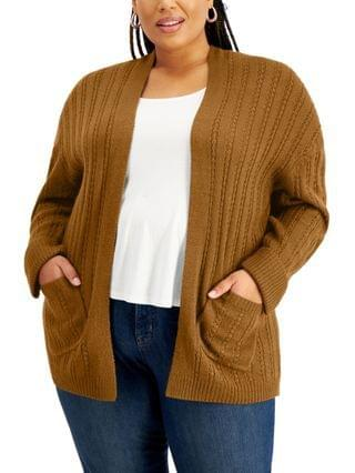 WOMEN FULL CIRCLED TRENDS Trendy Plus Size Cardigan