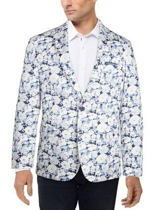 MEN Slim-Fit Navy & White Floral Sport Coat Created for Macy's