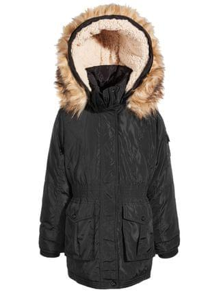 KIDS Little Girls Hooded Anorak with Faux-Fur Trim