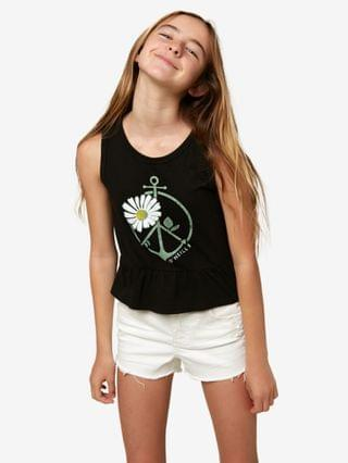 KIDS Big Girls Peace and Surf Tank Top