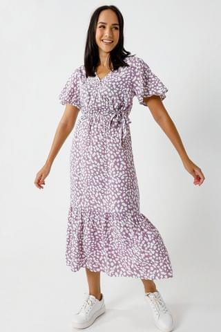 WOMEN Pattern Wrap Dress