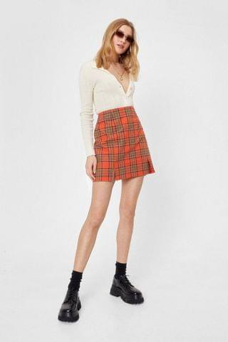 WOMEN Totally Clueless Check Skirt
