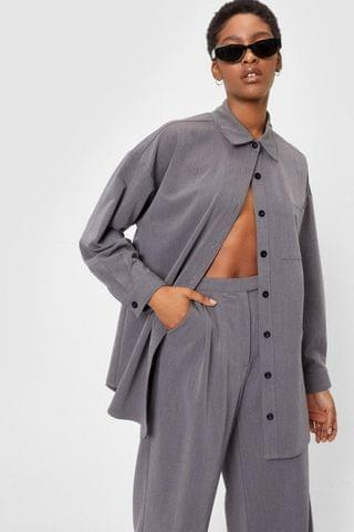 WOMEN Whatever Suits You Oversized Button-Down Shirt