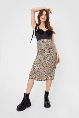 WOMEN Polka Dot Relaxed Midi Skirt