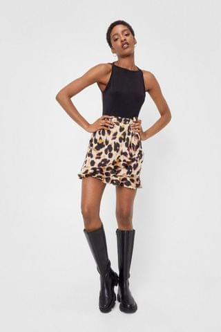 WOMEN So Fierce Leopard Wrap Skirt