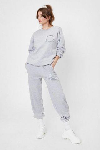 WOMEN Calfornia Baby Graphic High-Waisted Joggers