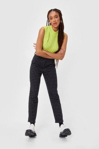 WOMEN Plaid Reputation High-Waisted Check Pants
