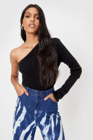 WOMEN Be the One Shoulder Knitted Top