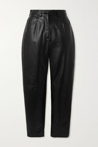 WOMEN DOLCE & GABBANA Leather straight-leg pants