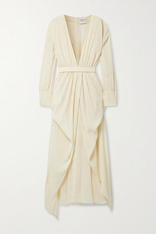 WOMEN A.W.A.K.E. MODE Gathered draped crepon maxi dress