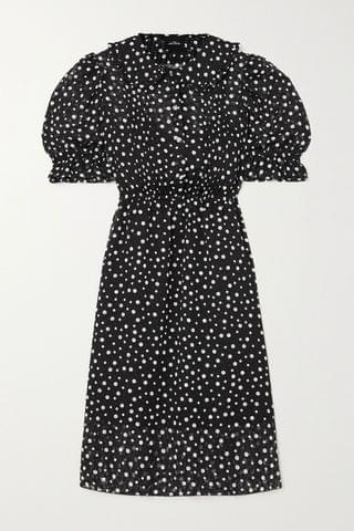 WOMEN THE MARC JACOBS The Kat crystal-embellished polka-dot fil coup chiffon dress