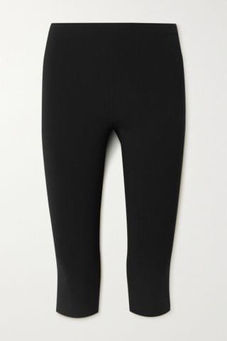 WOMEN THE ROW Cappo cropped stretch-cady skinny pants