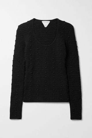WOMEN BOTTEGA VENETA Crocheted cotton sweater