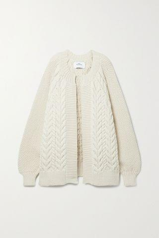 WOMEN MR MITTENS Cable-knit wool cardigan