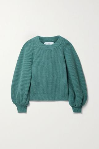 WOMEN I LOVE MR MITTENS Ribbed wool and cashmere-blend sweater
