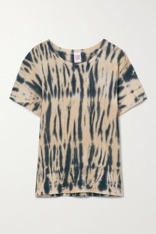 WOMEN RE/DONE + NET SUSTAIN + Hanes 70s tie-dyed recycled cotton-jersey T-shirt