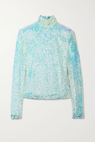 WOMEN A.W.A.K.E. MODE Sequined tulle turtleneck top