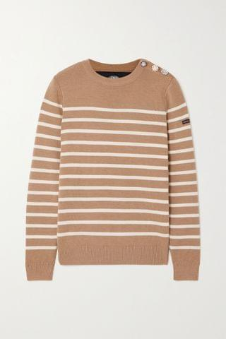 WOMEN THE MARC JACOBS + Armor Lux The Breton embellished striped wool sweater