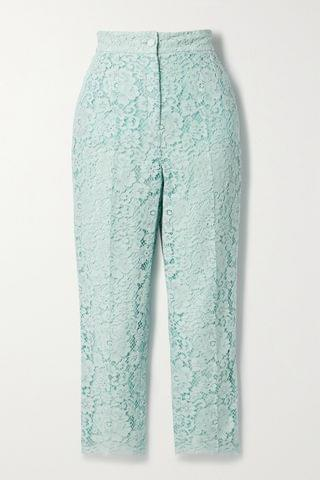 WOMEN DOLCE & GABBANA Cotton-blend corded lace tapered pants