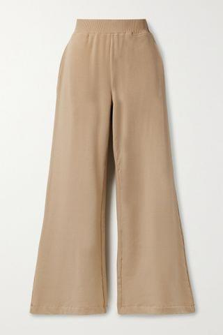 WOMEN L'AGENCE Campbell stretch cotton and modal-blend wide-leg pants