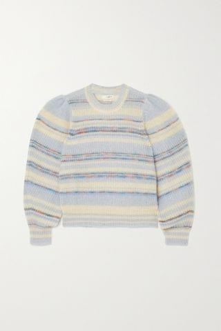 WOMEN ISABEL MARANT TOILE Eleonore striped mohair-blend sweater