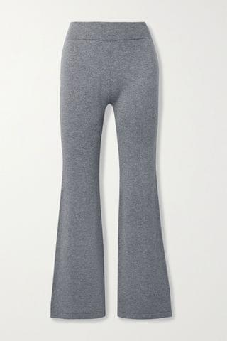 WOMEN I LOVE MR MITTENS M lange wool and cashmere-blend flared pants