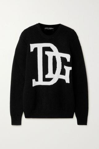 WOMEN DOLCE & GABBANA Intarsia wool sweater