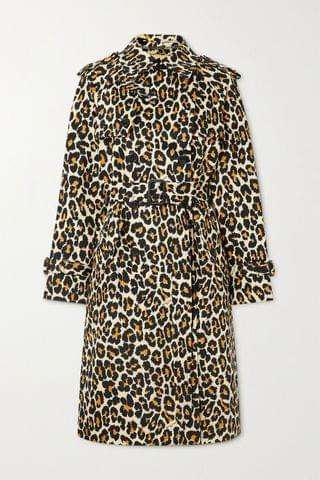WOMEN THE MARC JACOBS The Trench belted double-breasted leopard-print denim coat