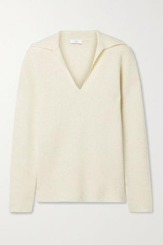 WOMEN VINCE Wool and cashmere-blend sweater