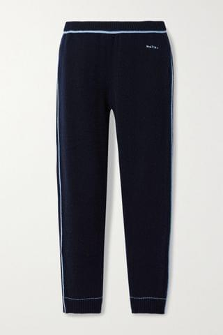 WOMEN MARNI Cashmere and wool-blend track pants