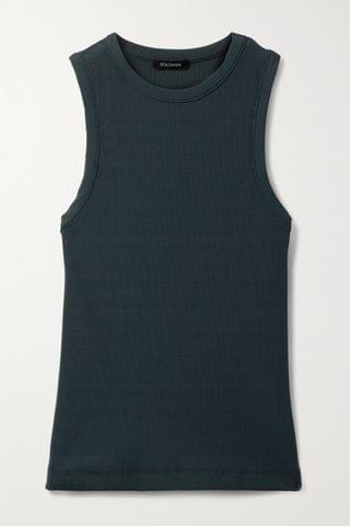 WOMEN GOLDSIGN + NET SUSTAIN ribbed stretch-jersey tank