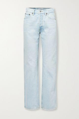 WOMEN RE/DONE 90s distressed high-rise straight-leg jeans