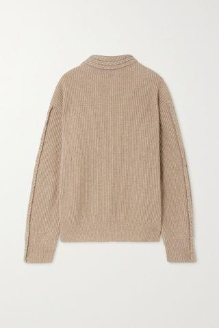 WOMEN ENVELOPE1976 + NET SUSTAIN Zurich cable-knit merino wool and cashmere-blend sweater