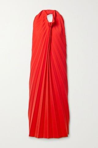 WOMEN A.W.A.K.E. MODE Pleated stretch-cady halterneck midi dress