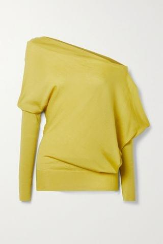 WOMEN TOM FORD One-shoulder cashmere and silk-blend sweater