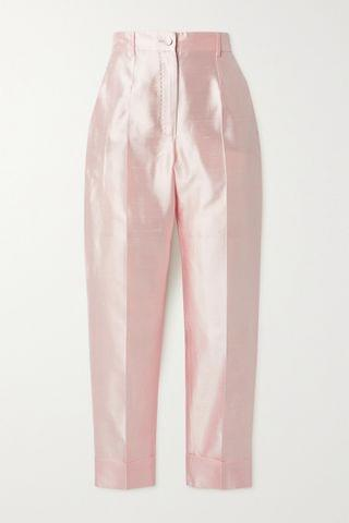 WOMEN DOLCE & GABBANA Silk-shantung tapered pants
