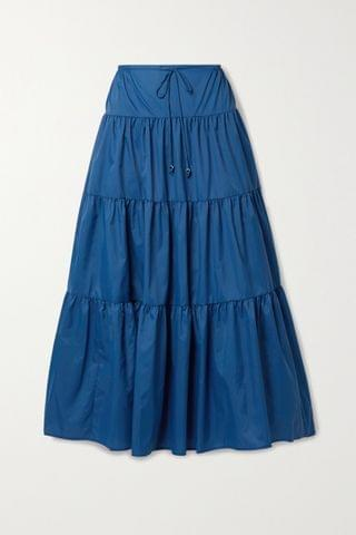 WOMEN STAUD Lucca tiered recycled shell maxi skirt