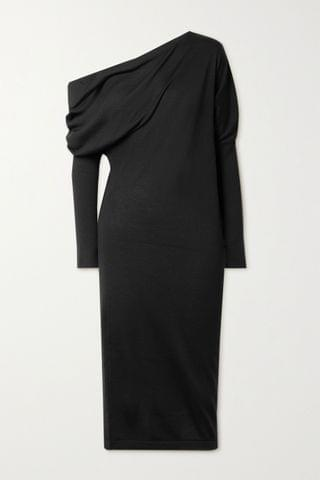 WOMEN TOM FORD One-shoulder cashmere and silk-blend dress