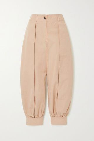 WOMEN JW ANDERSON Cotton-twill tapered pants
