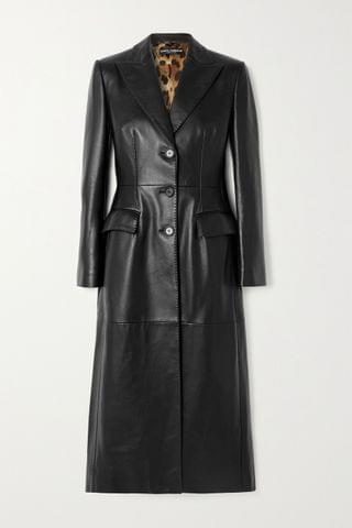 WOMEN DOLCE & GABBANA Topstitched leather coat