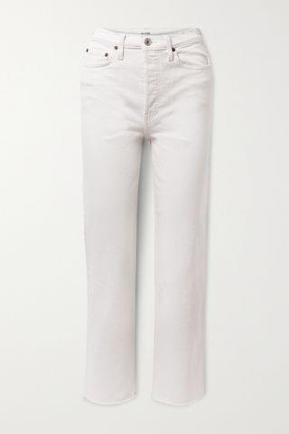 WOMEN RE/DONE + NET SUSTAIN Originals Stove Pipe Comfort Stretch high-rise straight-leg jeans