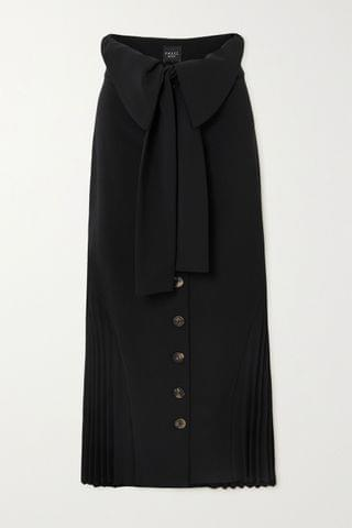 WOMEN A.W.A.K.E. MODE Draped pleated crepe skirt