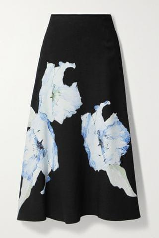 WOMEN JASON WU COLLECTION Floral-print cady midi skirt