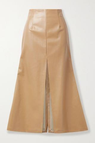 WOMEN A.W.A.K.E. MODE Faux leather midi skirt