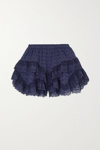 WOMEN ISABEL MARANT TOILE Teocadia ruffled broderie anglaise cotton shorts