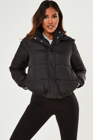 WOMEN Missguided Petite Hooded Padded Jacket