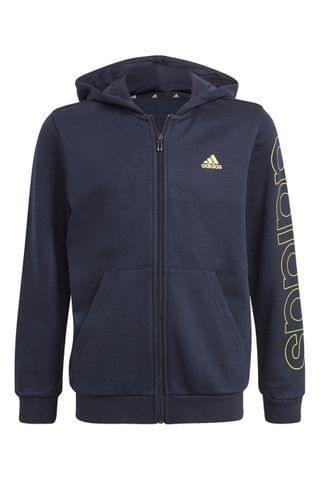 KIDS adidas Linear Logo Zip Through Hoody